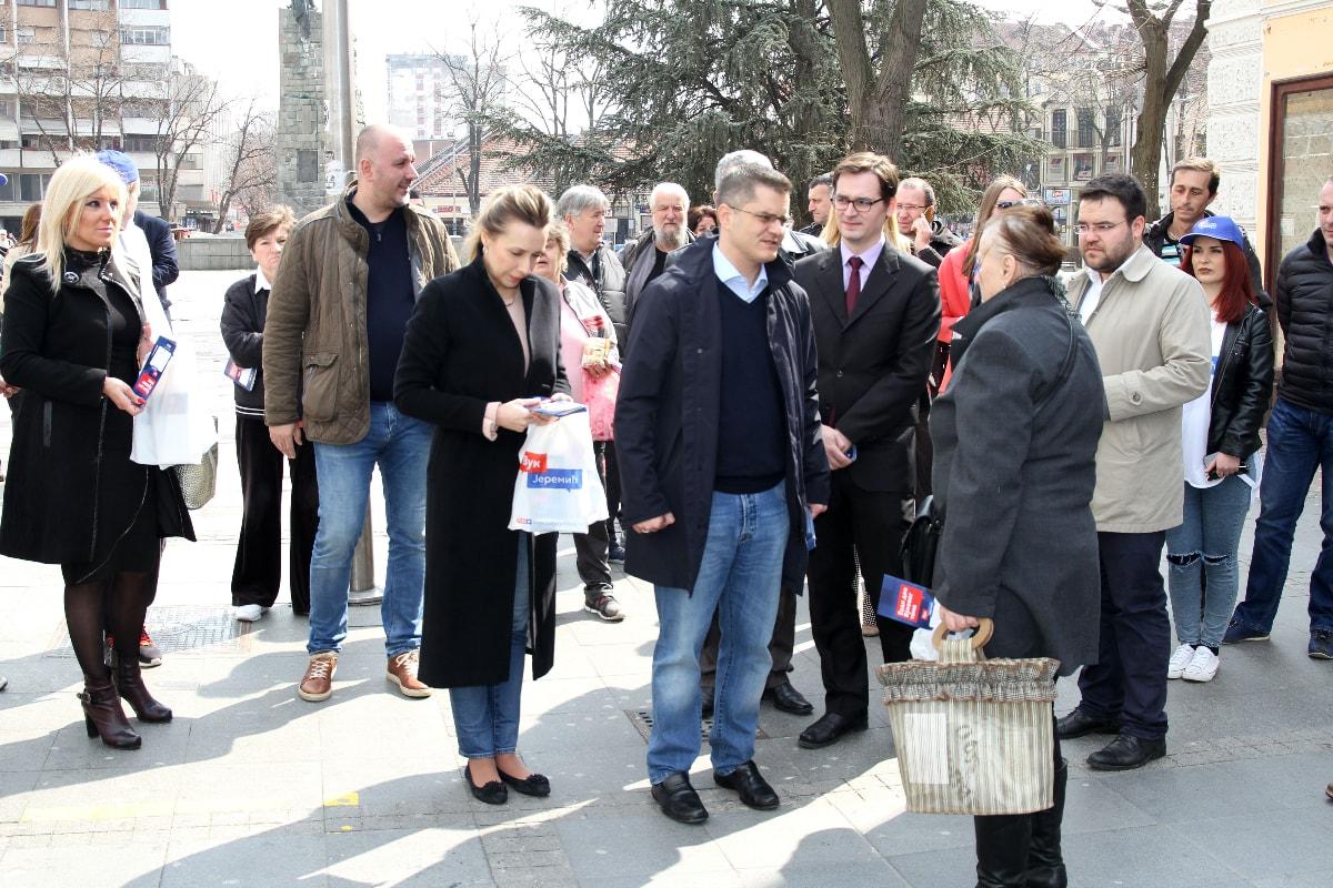 Јеремић у Рашком округу: Обезбедити поштене услове за изборе