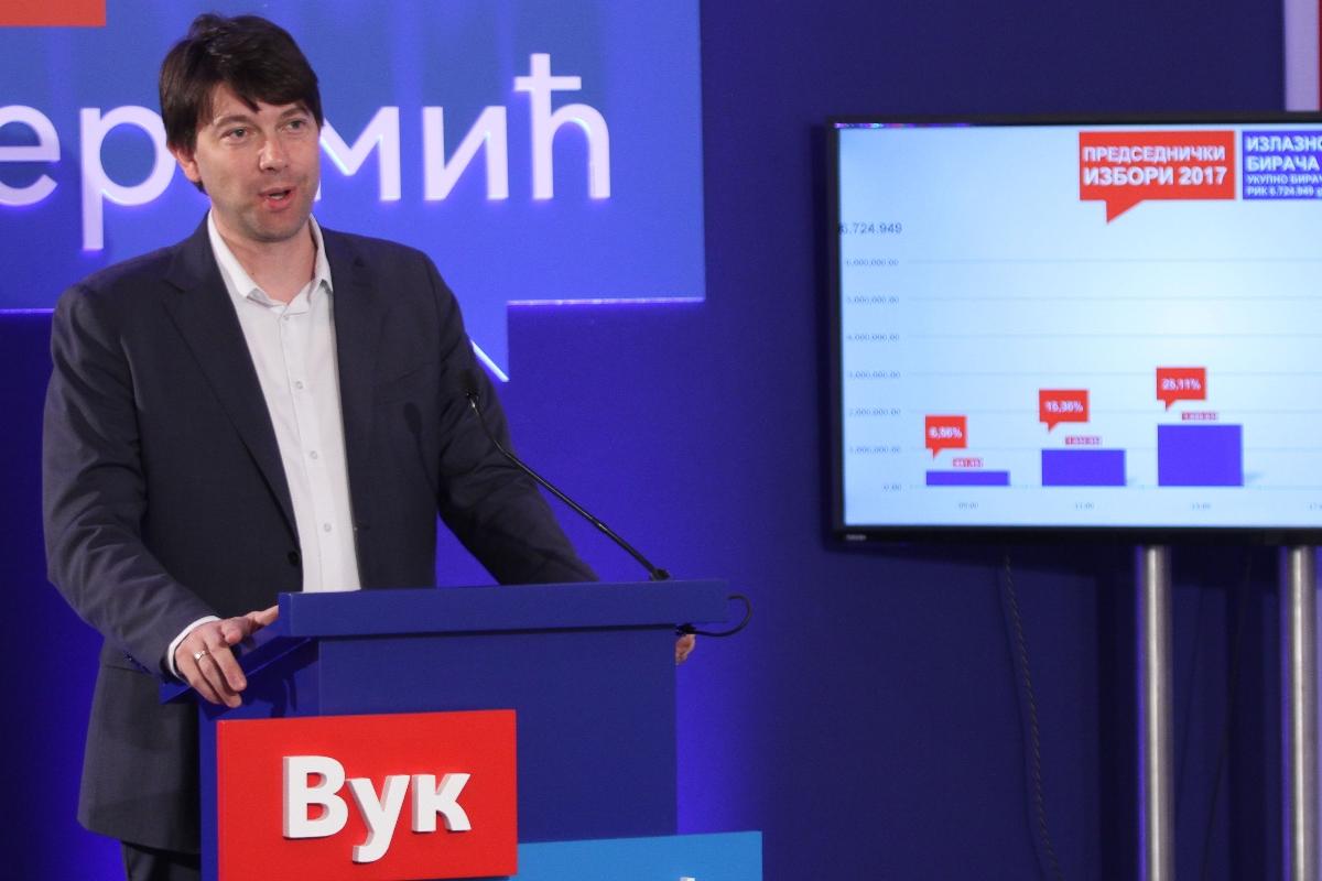 Подаци изборног штаба Вука Јеремића: Одзив до 13 часова 25,11 одсто